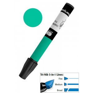 Chartpak® AD™ Art Marker Holly Green; Color: Green; Ink Type: Xylene-Based; Tip Type: Tri-Nib; (model AP22), price per each