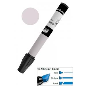 Chartpak® AD™ Art Marker Basic Gray #4; Color: Black/Gray; Ink Type: Xylene-Based; Tip Type: Tri-Nib; (model AP229), price per each