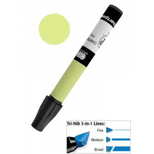 Chartpak® AD™ Art Marker Chartreuse; Color: Green; Ink Type: Xylene-Based; Tip Type: Tri-Nib; (model AP36), price per each