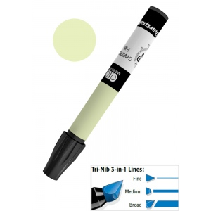 Chartpak® AD™ Art Marker Yellow Green; Color: Green; Ink Type: Xylene-Based; Tip Type: Tri-Nib; (model AP38), price per each