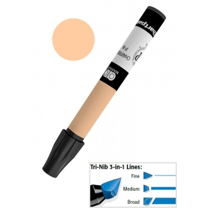 Chartpak® AD™ Art Marker Kraft Sepia; Color: Brown; Ink Type: Xylene-Based; Tip Type: Tri-Nib; (model AP55), price per each