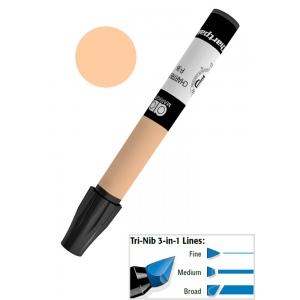 Chartpak® AD™ Art Marker Kraft Sepia; Color: Brown; Ink Type: Xylene-Based; Tip Type: Tri-Nib; (model AP55), price per each
