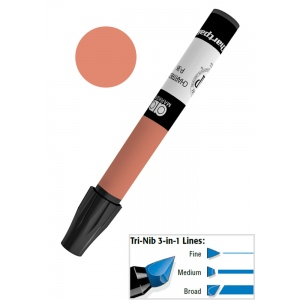 Chartpak® AD™ Art Marker Burnt Umber; Color: Brown; Ink Type: Xylene-Based; Tip Type: Tri-Nib; (model AP71), price per each