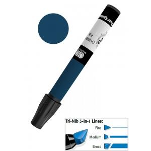Chartpak® AD™ Art Marker Extra Black; Color: Black/Gray; Ink Type: Xylene-Based; Tip Type: Tri-Nib; (model AP99), price per each