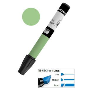 Chartpak® AD™ Art Marker Jade; Color: Green; Ink Type: Xylene-Based; Tip Type: Tri-Nib; (model AP25/BX), price per box