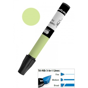 Chartpak® AD™ Art Marker Palm Green: Green, Xylene-Based, Tri-Nib, (model AP32/BX), price per box