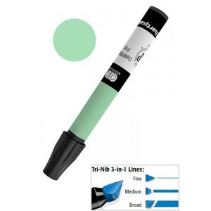 Chartpak® AD™ Art Marker Leaf Green: Green, Xylene-Based, Tri-Nib, (model AP29/BX), price per box