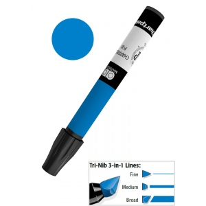 Chartpak® AD™ Art Marker Prussian Blue; Color: Blue; Ink Type: Xylene-Based; Tip Type: Tri-Nib; (model AP6/BX), price per box