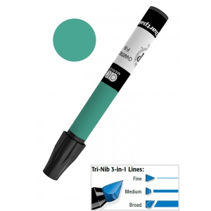 Chartpak® AD™ Art Marker Evergreen; Color: Green; Ink Type: Xylene-Based; Tip Type: Tri-Nib; (model AP20/BX), price per box
