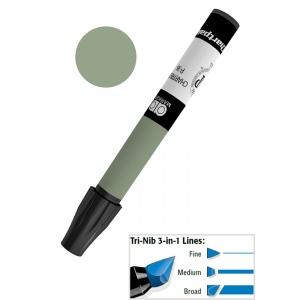 Chartpak® AD™ Art Marker Dark Olive: Green, Xylene-Based, Tri-Nib, (model AP24/BX), price per box