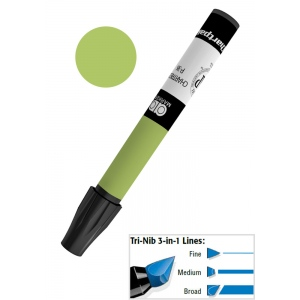 Chartpak® AD™ Art Marker Olive; Color: Green; Ink Type: Xylene-Based; Tip Type: Tri-Nib; (model AP31/BX), price per box