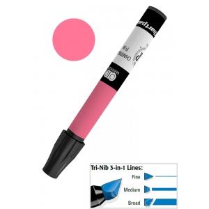 Chartpak® AD™ Art Marker Scarlet; Color: Red/Pink; Ink Type: Xylene-Based; Tip Type: Tri-Nib; (model AP81/BX), price per box