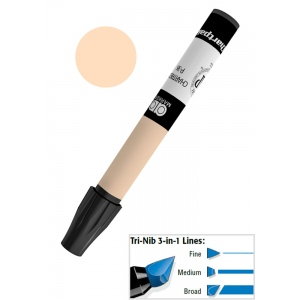 Chartpak® AD™ Art Marker Desert Tan: Brown, Xylene-Based, Tri-Nib, (model AP146/BX), price per box