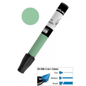 Chartpak® AD™ Art Marker Emerald Green; Color: Green; Ink Type: Xylene-Based; Tip Type: Tri-Nib; (model AP21/BX), price per box