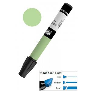 Chartpak® AD™ Art Marker Nile Green; Color: Green; Ink Type: Xylene-Based; Tip Type: Tri-Nib; (model AP30/BX), price per box