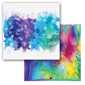 Ken Oliver - Color Burst Splash - Splatter 12x12 Paper