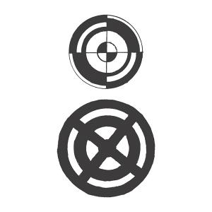 Spellbinders - Stamps - Seth Apter - Turnarounds Set 3