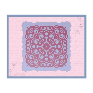 Couture Creations - Impression Die - Damask Frame Die