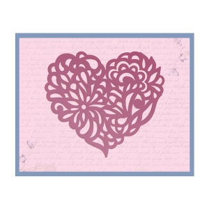 Couture Creations - Impression Die - Magnolia Heart Die