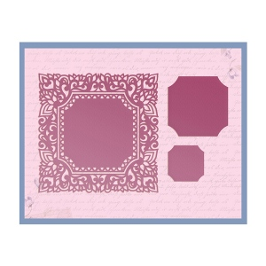 Couture Creations - Impression Die - Square Magnolia Frame Die