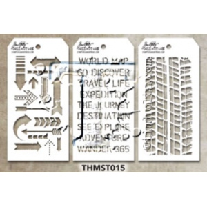 Stampers Anonymous - Tim Holtz - Stencil - Mini Stencil Set #15