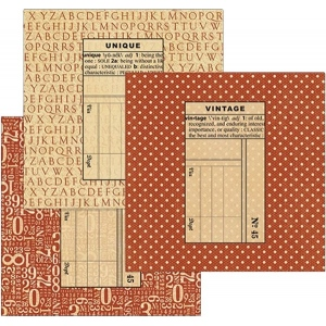 Graphic 45 - Staples - Policy Envelopes - Square Red