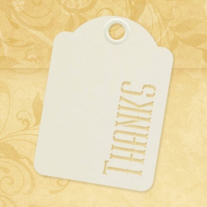 Graphic 45 - Staples - Thanks - ATC Ivory Tags