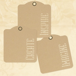 Graphic 45 - Staples - Inspire Create Imagine - Kraft Tags
