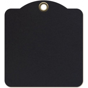 Graphic 45 - Staples - Square Tags - Black