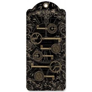 Graphic 45 - Staples - Metal Clock Keys
