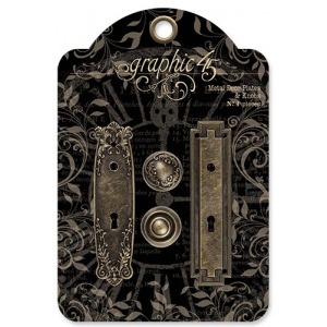 Graphic 45 - Staples - Metal Door Plates & Knobs