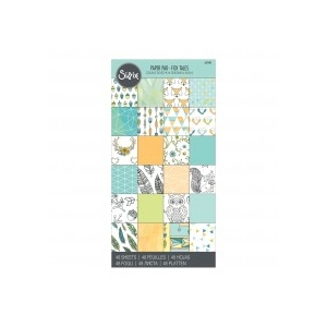 Sizzix - Paper - Cardstock Pad - Fox Tales - 48 Sheets - 6in x 12in