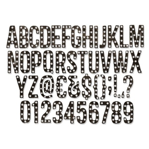 Sizzix - Tim Holtz Alterations - Thinlits  - Alphanumeric Marquee Die Set 102 Pack - 1 inch tall
