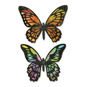 Sizzix - Tim Holtz Alterations - Thinlits - Detailed Butterflies Die Set 4 Pack