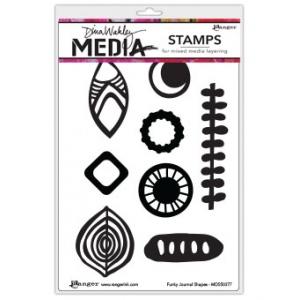 Ranger - Dina Wakley Media - Cling Stamps - Funky Journal Shapes