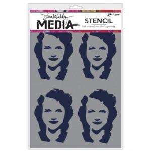 Ranger - Dina Wakley Media - Stencils - Four Women