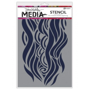 Ranger - Dina Wakley Media - Stencils - Mighty Wave