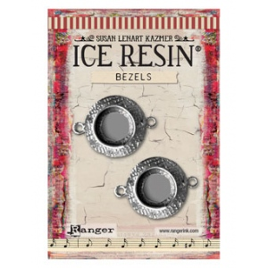 Ranger - ICE Resin - Milan Bezels Closed Back - Antique Bronze - Circle - Medium