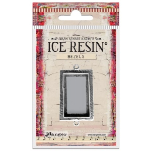 Ranger - ICE Resin - Milan Bezels Closed Back - Antique Silver - Heart - Medium