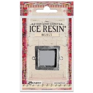 Ranger - ICE Resin - Milan Bezels Closed Back - Antique Silver - Square - Medium