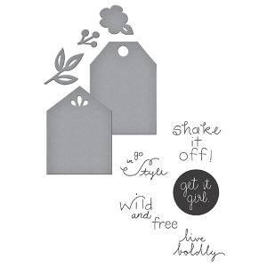 Spellbinders - Stamp/Die Set - Quite Contrary - Debi Adams - Simply Me