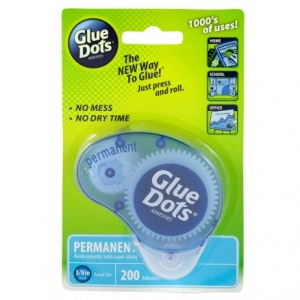 Glue Dots - Permanent Dispenser - 200 Count