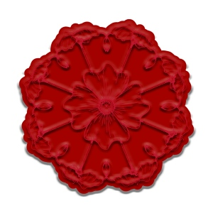 Ken Oliver - Cut 'n Color - Poppy Mandala Stamp