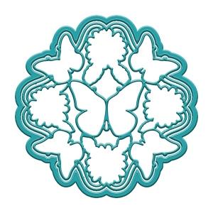 Ken Oliver - Cut 'n Color - Butterfly Daisy Mandala Die