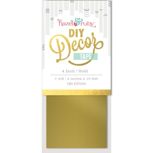 Hazel & Ruby - Decor Tape - Gold - 4 inch