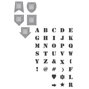 Spellbinders - Stamp/Die  Set - Donna Salazar - Alpha Bits