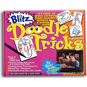 Bruce Blitz VHS Doodle Tricks Set - with 1 Hour DVD