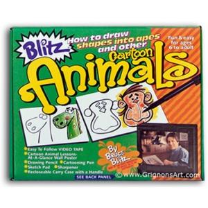 Bruce Blitz Cartoon Animals Set - with 1 Hour DVD