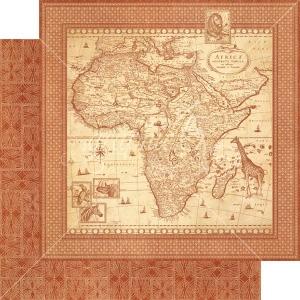 Graphic 45 - Safari Adventure - Journey of a Lifetime 12x12 Paper