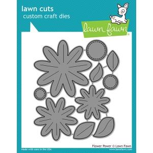 Lawn Fawn - Lawn Cuts - Flower Power Dies